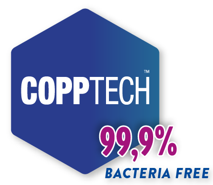copptech eimina 99,9% bacterias