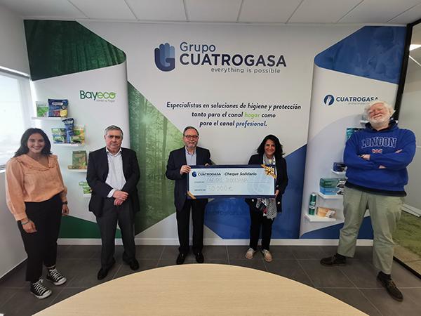 Grupo Cuatrogasa Contribuye Con 50.000 Euros A La Labor De Cáritas Diocesana